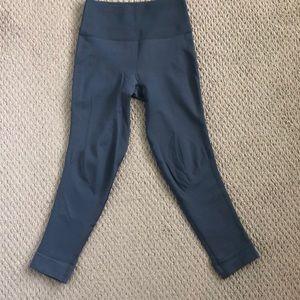 Lululemon Slate Gray Cropped Leggings